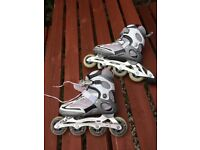 Fils women size 5 inline skates used once !