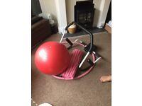 Fitness ball, hoop, Matt and crunch equipment