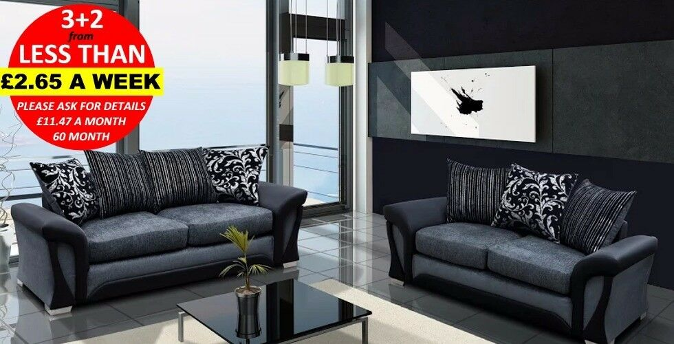 SUPER OFFER LUXURY SHANNON CORNER SOFA SET Or 3 2 Black Grey Brown