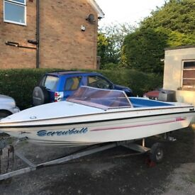 Speedboat with trailer