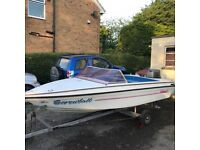 Speedboat with trailer