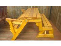 Folding Garden Picnic Table & Bench