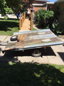 Flatbed -Tilt Trailer with hand winch