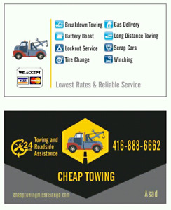 CHEAP TOWING BATTERY BOOST LOCKOUT FLAT RATE TOW TRUCK LONG DIST