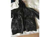 Mens black Leather Jacket never worn