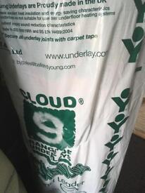 New cloud 9 carpet under lay brand new