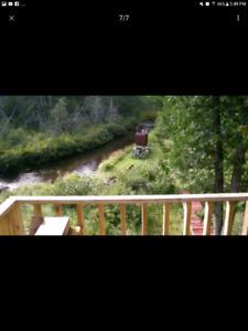 Superbe terrain a vendre,futur maison, camping, pêche, chasse