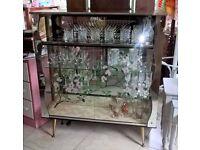 Retro Drinks Cabinet/display Cabinet