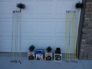Chimney Sweeping Rods and Brushes