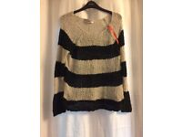 Superdry stripe jumper M