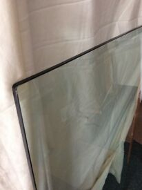 Large piece of 10mm tinted plate glass with bevelled edges