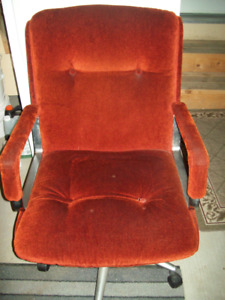 Reduce by Half -3 Swivel Chairs with armrest on castors for sale