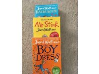 3x David Williams books - Mr Stink, The Boy in the Dress & Ratburger