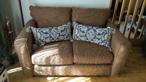 Fabric Sofa & Loveseat - Very Comfy & Good Condition
