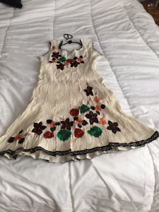 New - Embroidered (Indian) Designer Cotton Dress from India