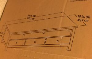 Flat panel tv console (tv stand)