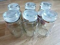 Douwe Egbert Coffee - style glass storage jars