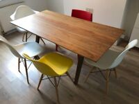 House clearance: dining table, chairs, bar stools, shelves, drawers, coffee table