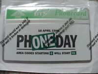 Collectible BT Phonecard, unused, still in sealed packaging - PHONE DAY 16th April 1995