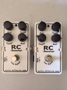2 Xotic Effects RC Booster V1 Pedals $110.00 each