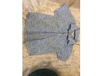 Boys blue/white shirt by John Lewis. Age 2
