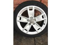 Audi VW Alloy Wheels with good tyres