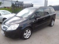 Vauxhall ZAFIRA Life,1598 cc 7 seat MPV,full MOT,great all round family car,runs and drives well