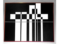 Abstract B&W painting - £300