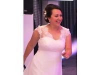 Delicate & subtle wedding dress
