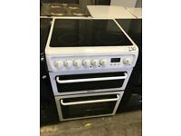 HOTPOINT HAE60P Electric Ceramic Cooker - White