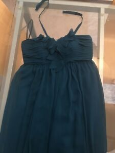 Small blue green bridesmaid gown