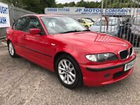 2004 BMW 320D ES SPORT RED DIESEL CHEAP E46 MANY MORE CARS IN STOCK JP MOTOR COMPANY