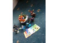 Sky landers 11 figures ,postal, wii game
