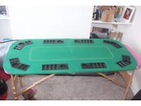 Poker Night - Green Felt FOLDING CASINO TABLE TOP For 8 Players