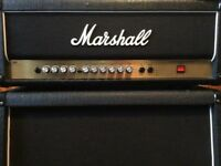 Marshall amp half stack advance valve state with 4x12 cabinet