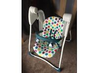 Baby swing rocker graco