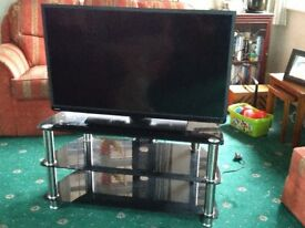 Glass TV Stand for up to 43inch TV