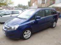Vauxhall ZAFIRA Exclusiv CDTI Ecoflex,7 seat MPV,1 previous owner,2 keys,FSH,low mileage,only 38k