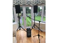 Fender Passport Pro 150 PA System and Shure Microphone