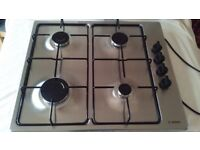 Bosch Gas Hob, Stainless Steel, 4 Burners