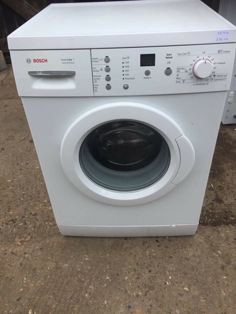 Bosch WAE24367GB/40 7kg 1200 Spin Washing Machine in White 3894in Ipswich, SuffolkGumtree - Bosch 7kg Washing Machine in good used clean condition. Energy Rating A. Fully tested to ensure full functionality before leaving our workshop. 13 Wash Programmes. Digital Display. Variable Spin. Speed Perfect. Eco Perfect. AquaPlus. Reduced Ironing....