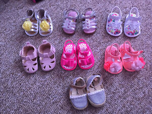 Baby girls size 1 & 2 shoes