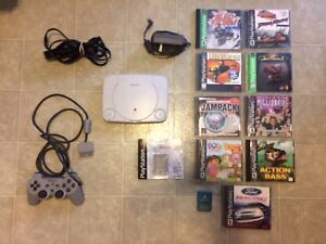PlayStation PSone Slim Console With 11 Games