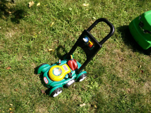 Little tikes kid's lawnmower