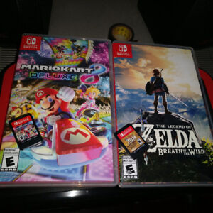 $60 Each Breath of the Wild & Mario Kart 8 Switch Edition
