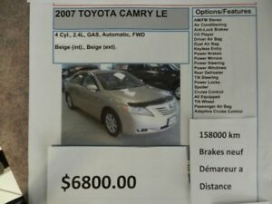 2007 Toyota Camry Other