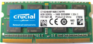 Memoire Ram 8GB  ddr3l-1600 sodimm PC/macbook pro