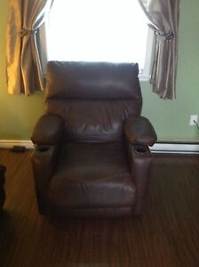 Genuine leather power recliner