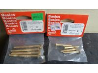 Job lot of brass screws for sale