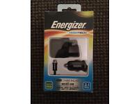 Energizer USB mains/ in charger kit 2.1